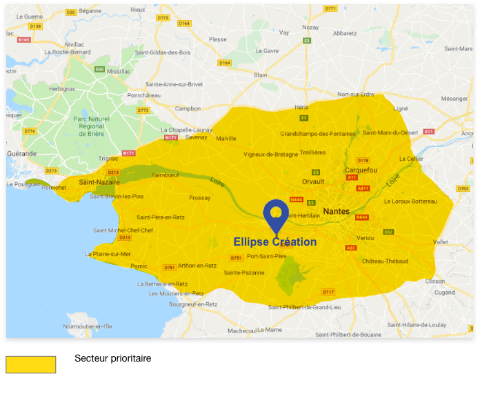 Ellipse Création - Zone d'intervention